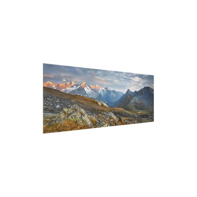 Produktfoto Glasbild - Col de Fenêtre Schweiz - Panorama