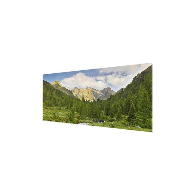 Produktfoto Glasbild - Debanttal Nationalpark Hohe Tauern - Panorama