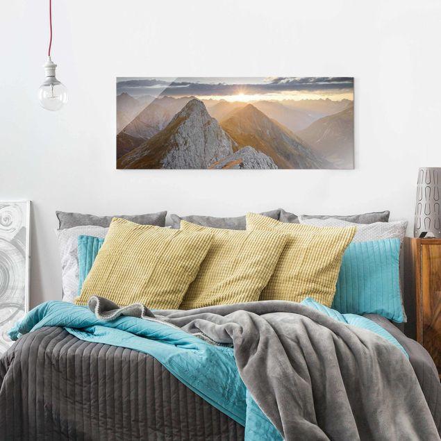 Produktfoto Glasbild - Lechtaler Alpen - Panorama