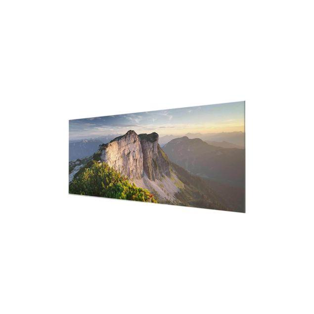 Produktfoto Glasbild - Loser Nordwand in Österreich - Panorama