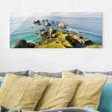 Immagine del prodotto Quadro in vetro - Nugget Point In New Zealand - Panoramico