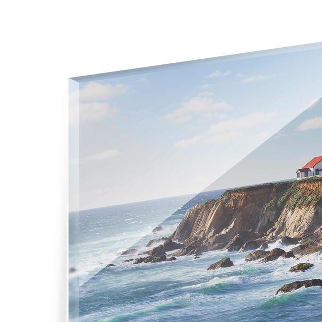 Produktfoto Glasbild - Point Arena Lighthouse Kalifornien - Panorama