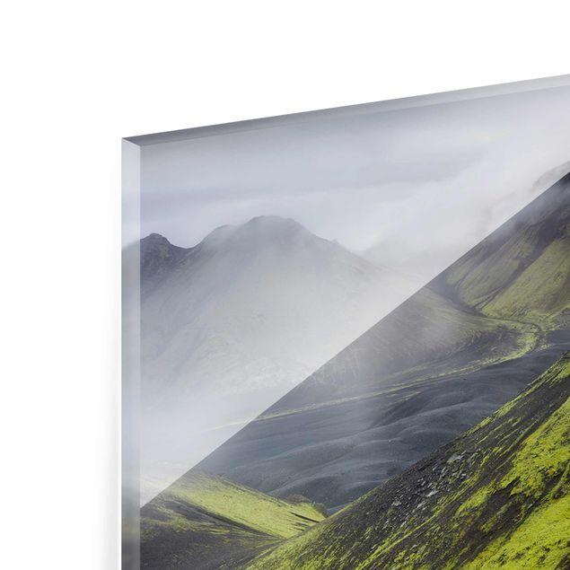 Produktfoto Glasbild - Storkonufell Island - Panorama