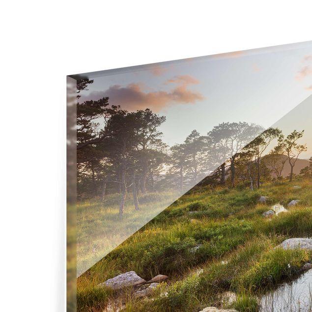 Produktfoto Glasbild - Tverrdalsbekken in Norwegen - Panorama