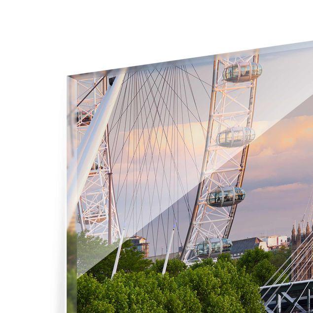 Produktfoto Glasbild - Westminster Palace London - Panorama