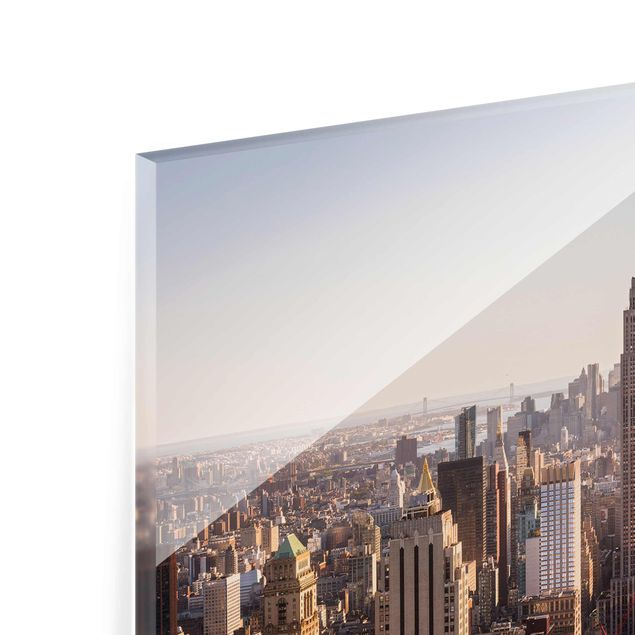 Produktfoto Glasbild - Blick vom Top of the Rock - Querformat 2:3