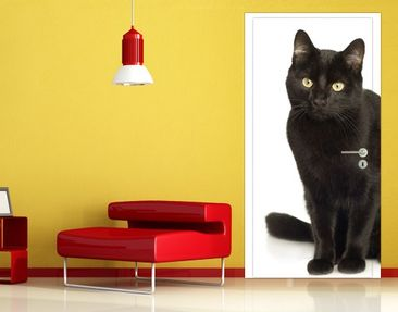 Produktfoto Door Wall Mural Black Cat
