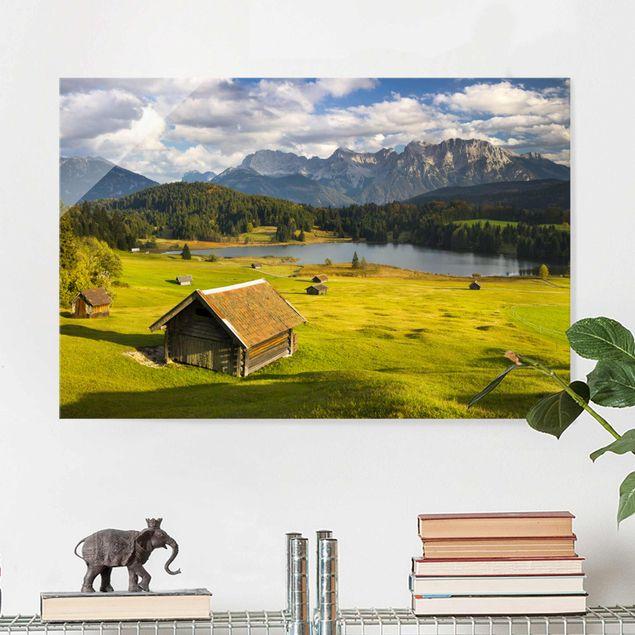 Produktfoto Glasbild - Geroldsee Oberbayern - Querformat 2:3