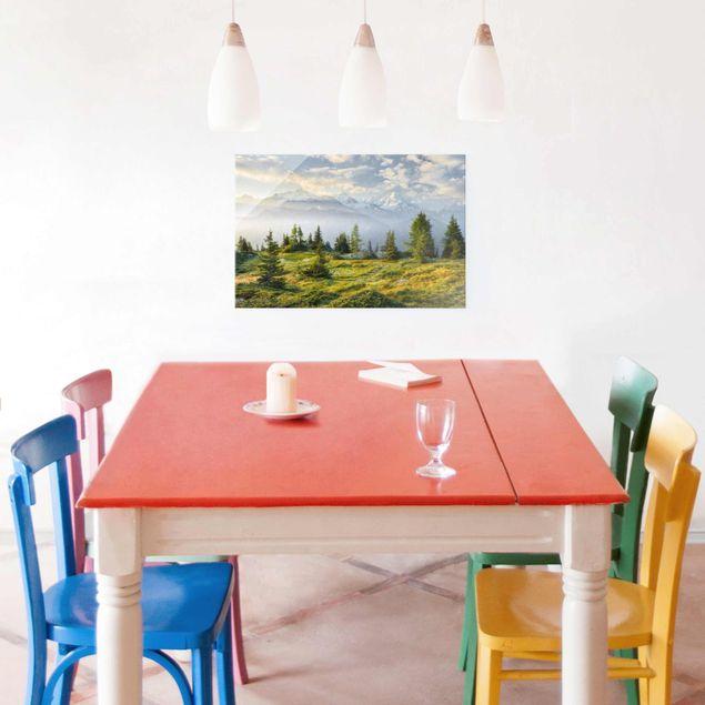 Produktfoto Glasbild - Émosson Wallis Schweiz - Querformat 2:3