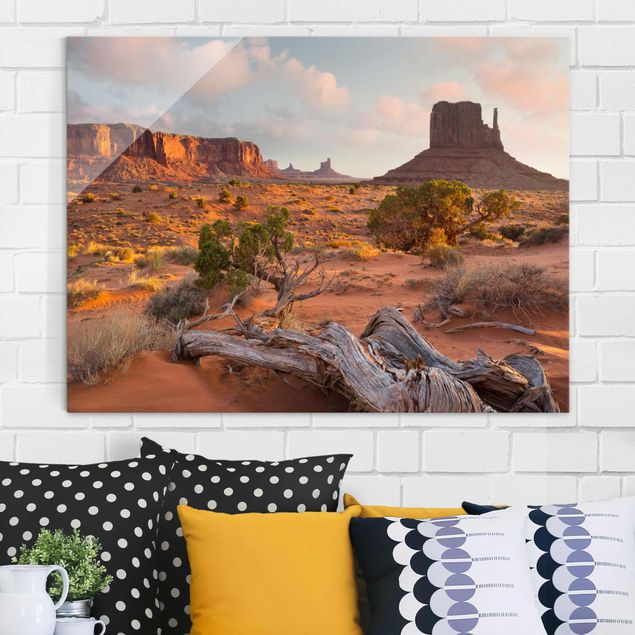 Produktfoto Glasbild - Monument Valley Navajo Tribal Park Arizona - Querformat 3:4