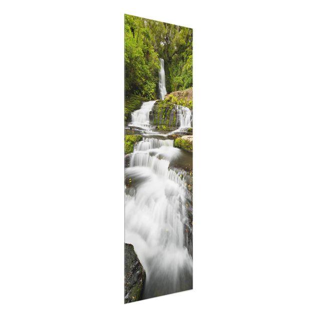 Produktfoto Glasbild - Upper McLean Falls in Neuseeland - Panel