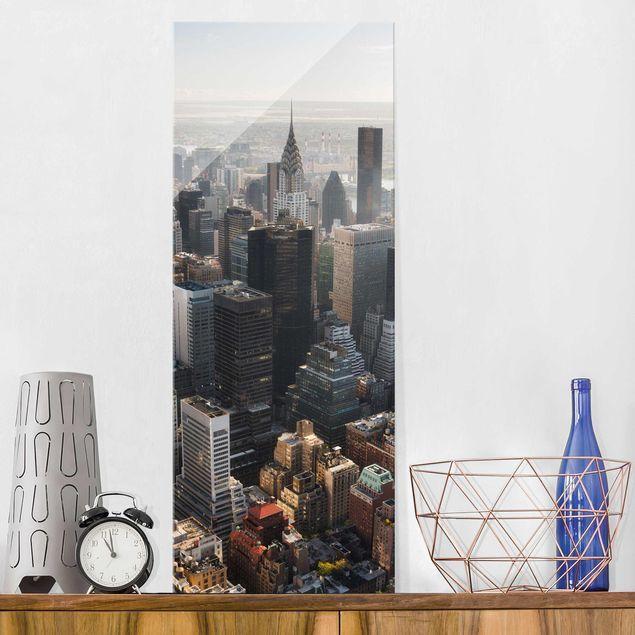 Produktfoto Glasbild - Vom Empire State Building Upper Manhattan NY - Panel