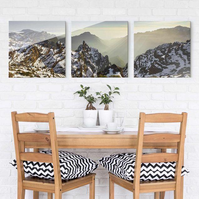 Produktfoto Glasbild mehrteilig - Berge in La Palma - 3-teilig