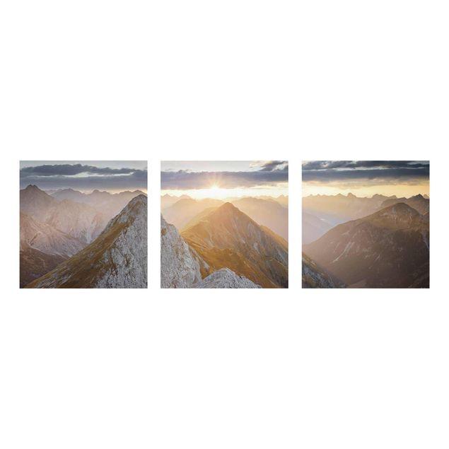 Produktfoto Glasbild mehrteilig - Lechtaler Alpen - 3-teilig