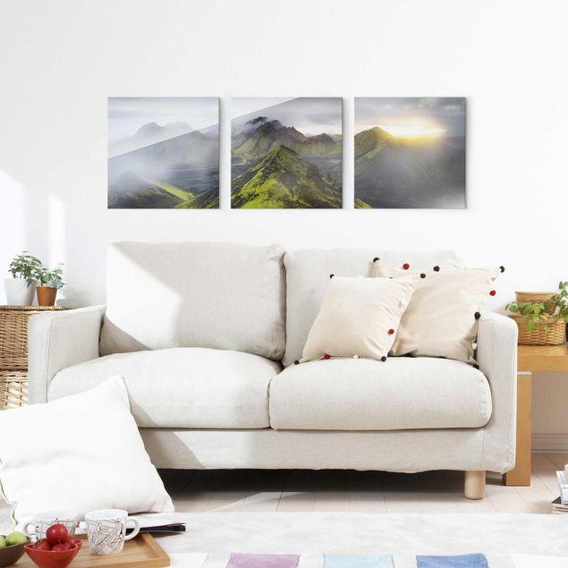 Produktfoto Glasbild mehrteilig - Storkonufell Island - 3-teilig