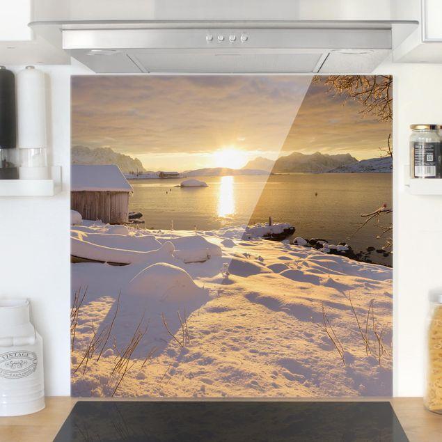 Produktfoto Spritzschutz Glas - Bootshaus bei Gammelgarden - Quadrat 1:1