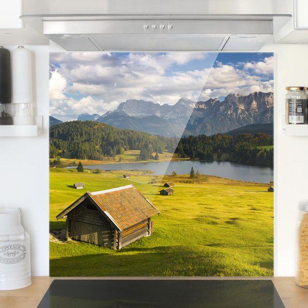 Produktfoto Spritzschutz Glas - Geroldsee Oberbayern - Quadrat 1:1