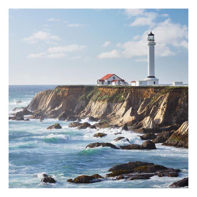 Produktfoto Spritzschutz Glas - Point Arena Lighthouse Kalifornien - Quadrat 1:1