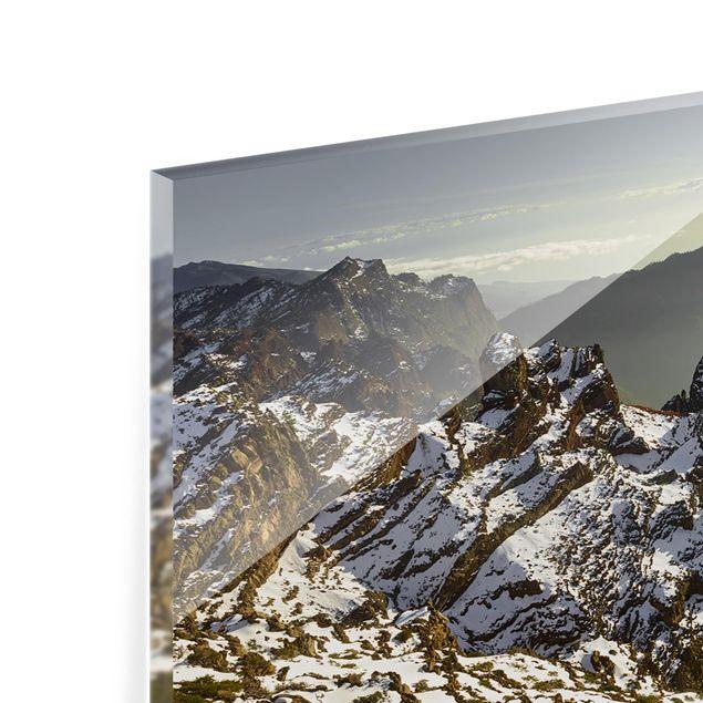 Produktfoto Spritzschutz Glas - Berge in La Palma - Panorama