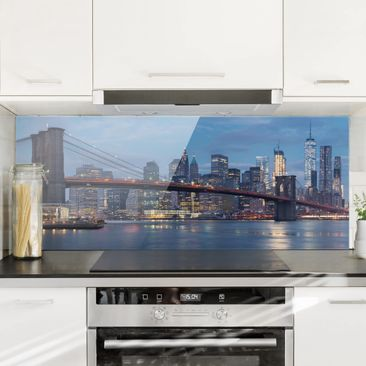 Produktfoto Spritzschutz Glas - Brooklyn Bridge Manhattan New York - Panorama