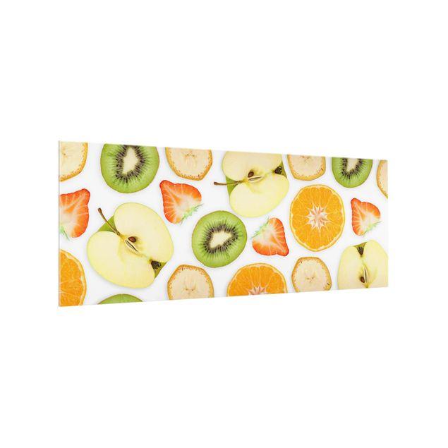 Produktfoto Spritzschutz Glas - Bunter Obst Mix - Panorama