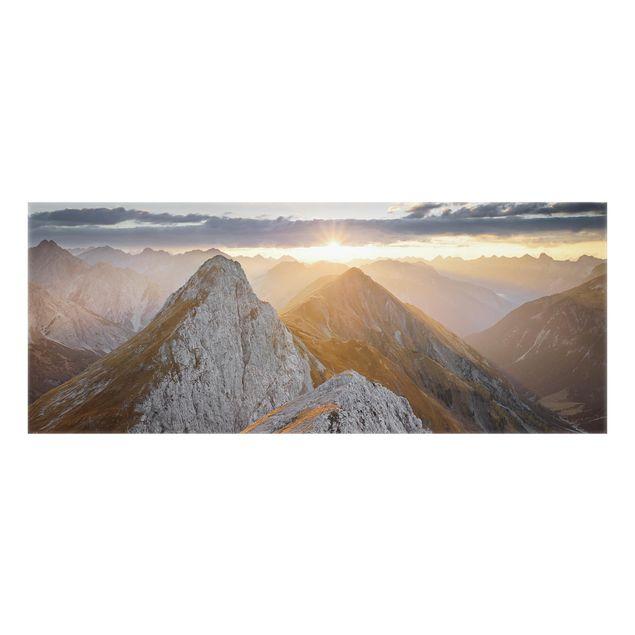 Produktfoto Spritzschutz Glas - Lechtaler Alpen - Panorama
