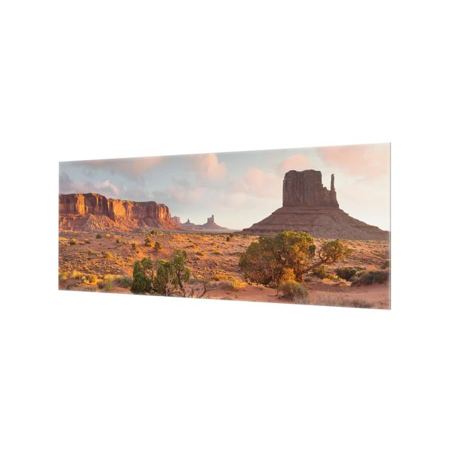 Produktfoto Spritzschutz Glas - Monument Valley Navajo Tribal Park Arizona - Panorama
