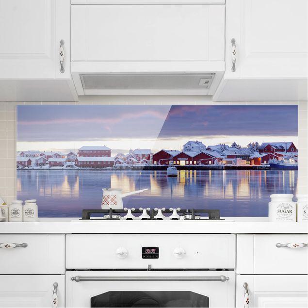 Produktfoto Spritzschutz Glas - Reine in Norwegen - Panorama