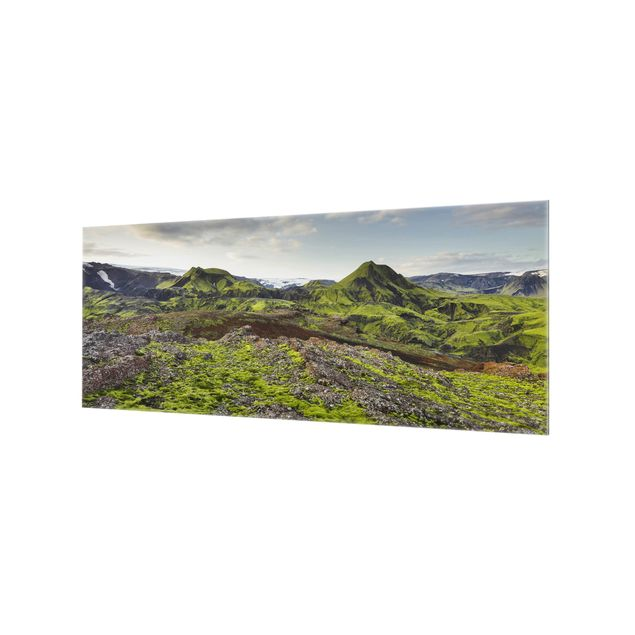 Produktfoto Spritzschutz Glas - Rjupnafell Island - Panorama