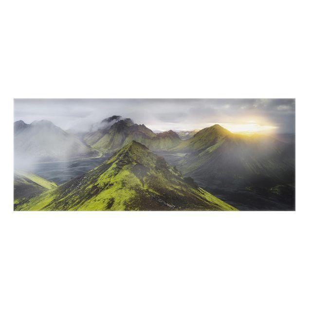 Produktfoto Spritzschutz Glas - Storkonufell Island - Panorama
