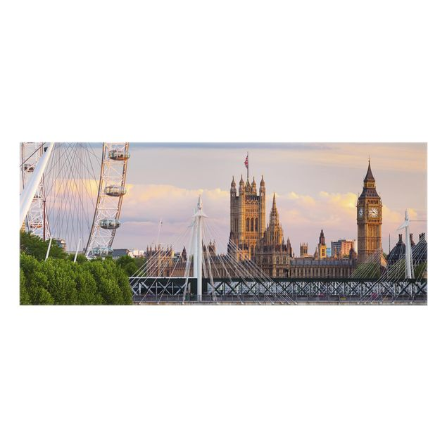 Produktfoto Spritzschutz Glas - Westminster Palace London - Panorama