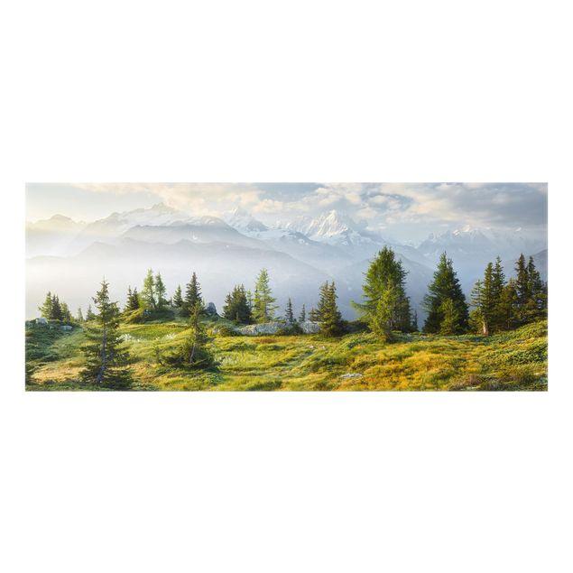 Produktfoto Spritzschutz Glas - Émosson Wallis Schweiz - Panorama