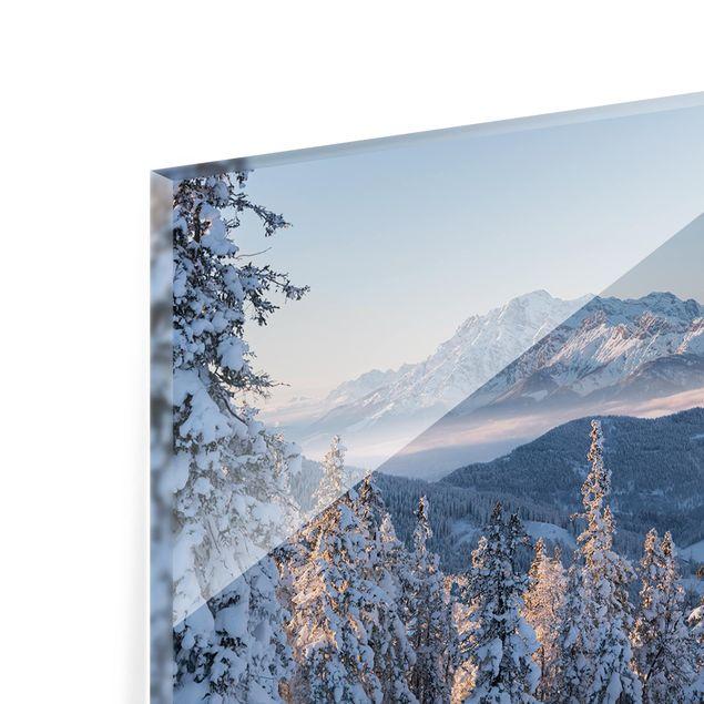 Produktfoto Spritzschutz Glas - Leoganger Steinberge Österreich - Querformat 1:2
