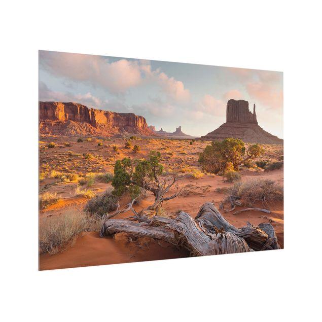 Produktfoto Spritzschutz Glas - Monument Valley Navajo Tribal Park Arizona - Querformat 3:4
