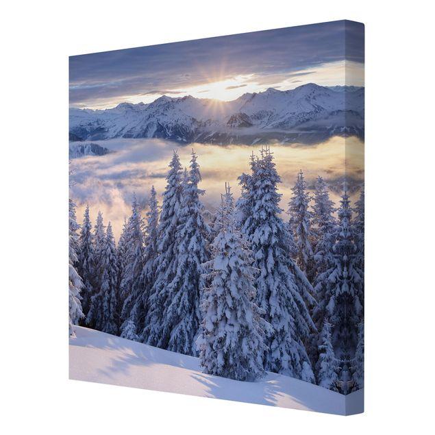 Produktfoto Leinwandbild - Blick in die Hohen Tauern vom Kreuzkogel Österreich - Quadrat 1:1