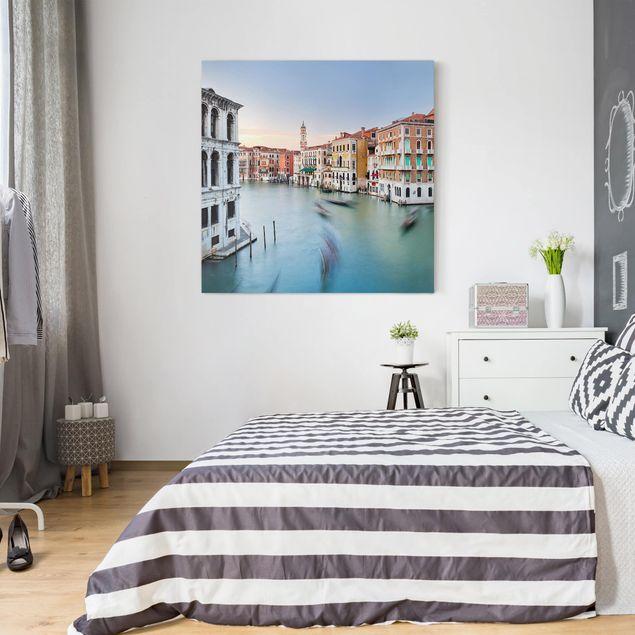 Produktfoto Leinwandbild - Canale Grande Blick von der Rialtobrücke Venedig - Quadrat 1:1
