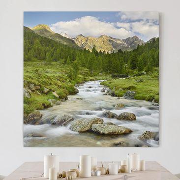 Produktfoto Leinwandbild - Debanttal Nationalpark Hohe Tauern - Quadrat 1:1