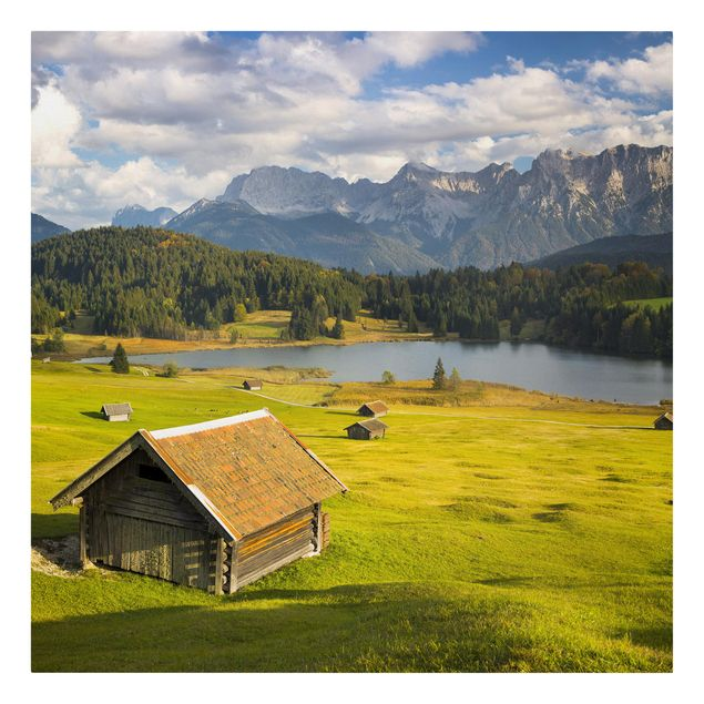 Produktfoto Leinwandbild - Geroldsee Oberbayern - Quadrat 1:1