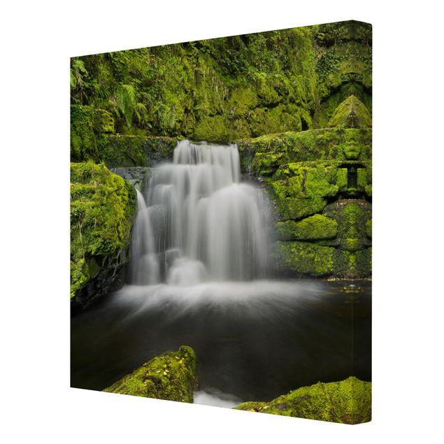 Produktfoto Leinwandbild - Lower McLean Falls in Neuseeland - Quadrat 1:1