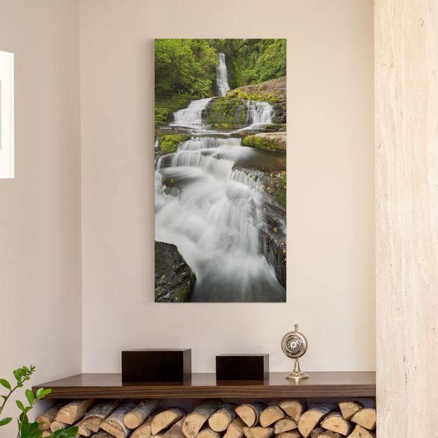 Produktfoto Leinwandbild - Upper McLean Falls in Neuseeland - Hochformat 2:1