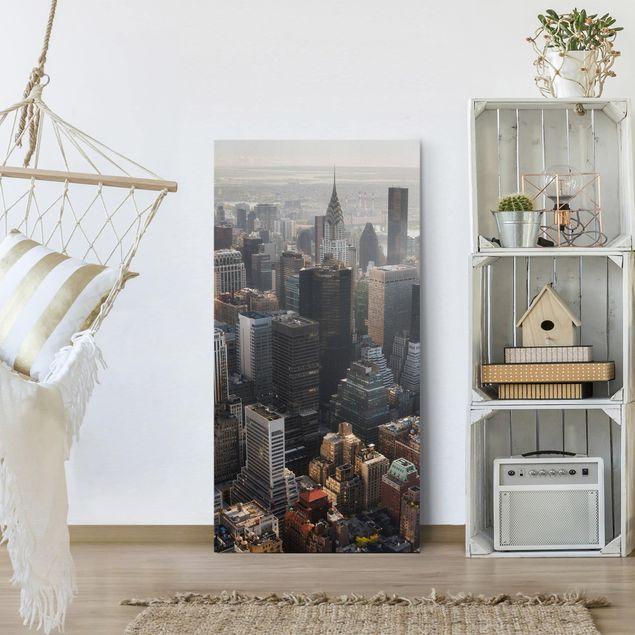 Produktfoto Leinwandbild - Vom Empire State Building Upper Manhattan NY - Hochformat 2:1