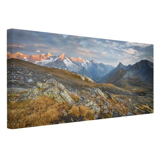 Produktfoto Leinwandbild - Col de Fenêtre Schweiz - Querformat 1:2