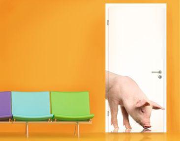 Produktfoto Door Wall Mural Curious Pig