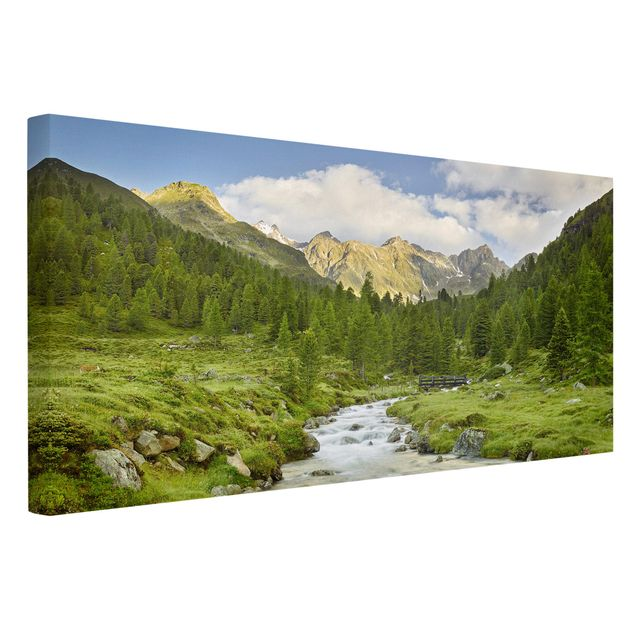 Produktfoto Leinwandbild - Debanttal Nationalpark Hohe Tauern - Querformat 1:2