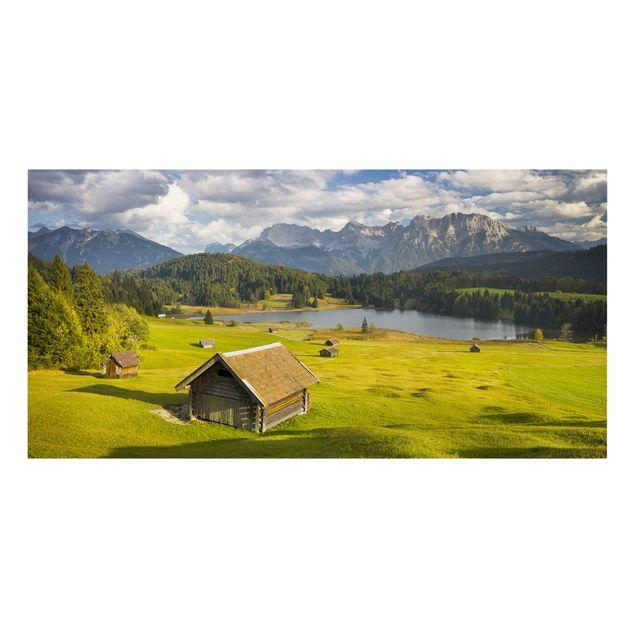 Produktfoto Leinwandbild - Geroldsee Oberbayern - Querformat 1:2