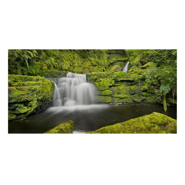 Produktfoto Leinwandbild - Lower McLean Falls in Neuseeland - Querformat 1:2
