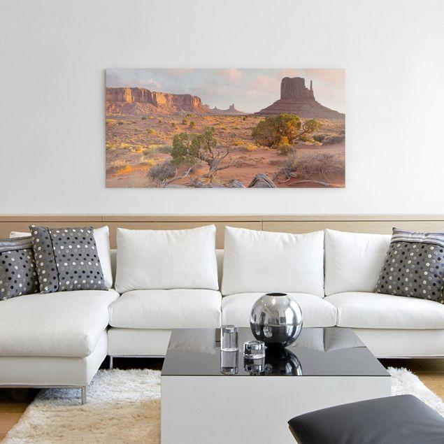 Produktfoto Leinwandbild - Monument Valley Navajo Tribal Park Arizona - Querformat 1:2