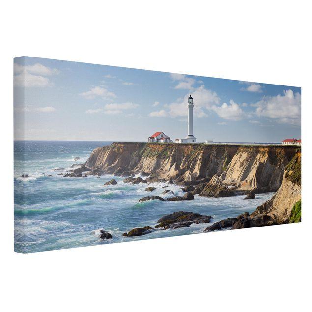 Produktfoto Leinwandbild - Point Arena Lighthouse Kalifornien - Querformat 1:2