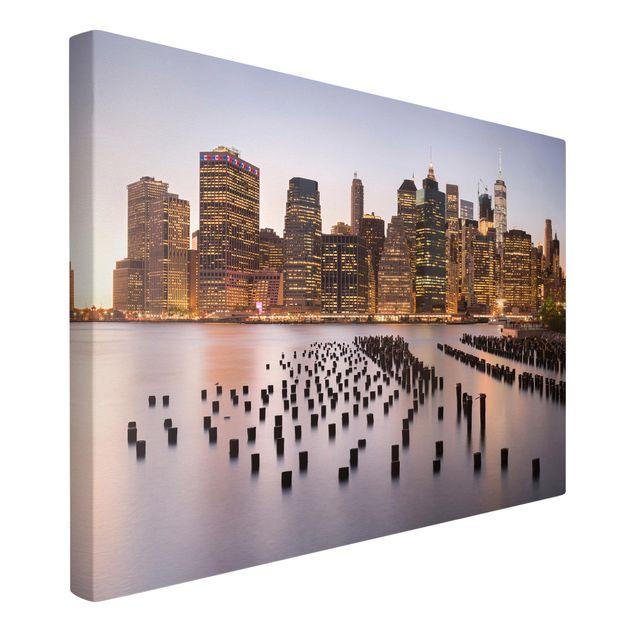 Produktfoto Leinwandbild - Blick auf Manhattan Skyline - Querformat 2:3