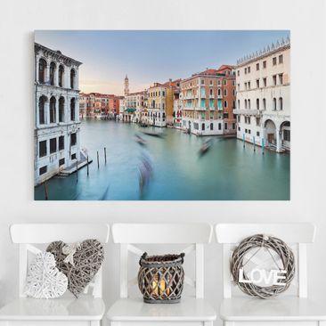Produktfoto Leinwandbild - Canale Grande Blick von der Rialtobrücke Venedig - Querformat 2:3